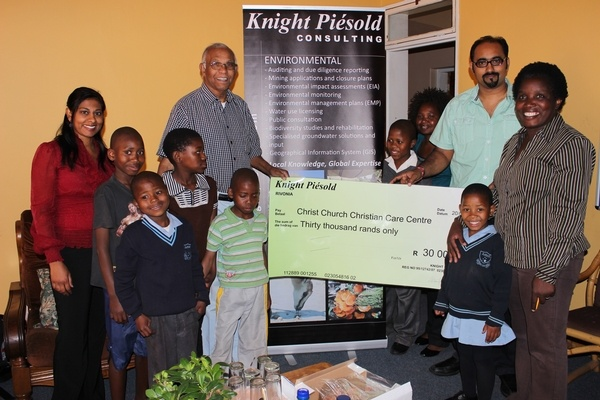 Knight Piésold Lends a Helping Hand to the Christ Church Christian Care Centre in South Africa