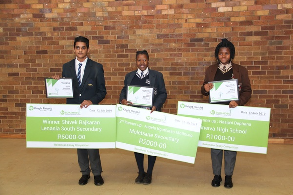 Knight Piésold Southern Africa Announces Winners of the Bokamoso Creative Essay Competition
